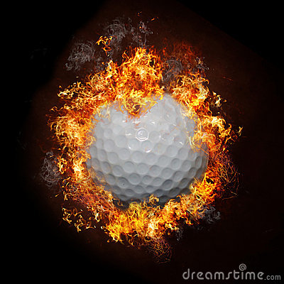 Free Fire Golf Ball Royalty Free Stock Photos - 22792558