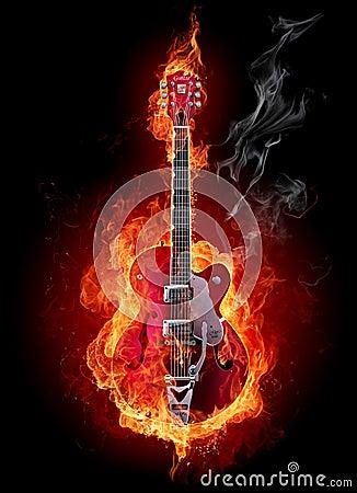 Free Fire Guitar Stock Photo - 7219210