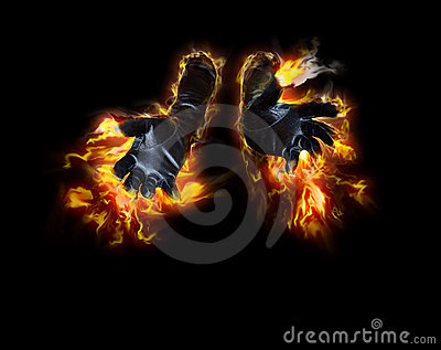 Fire Hands Royalty Free Stock Image - Image: 10405276