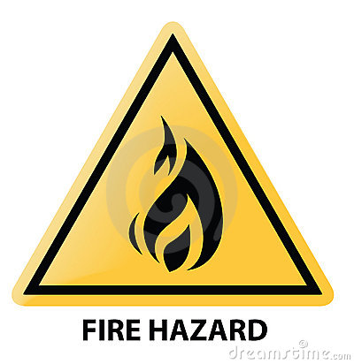 Fire Hazard Royalty Free Stock Images - Image: 10284839