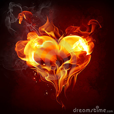 Free Fire Heart Stock Photo - 12201460