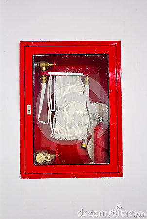 Fire Hose In The Box Royalty Free Stock Image Image