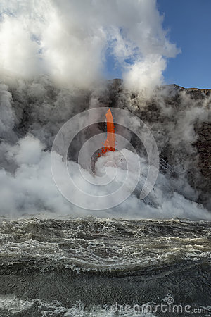 Free Fire Hose Churning Up The Ocean Royalty Free Stock Image - 95469296