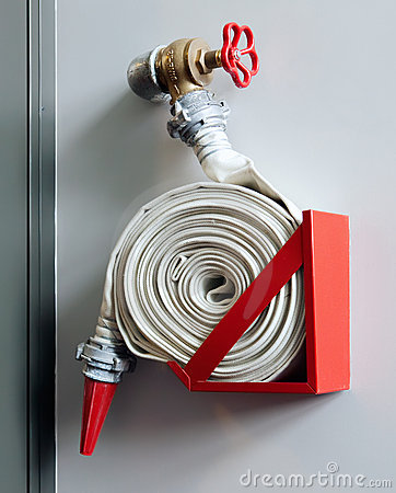 Fire-hose on the wall