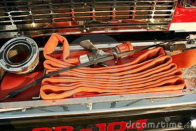 Fire Hoses on a truck