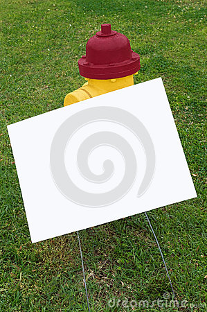 Fire Hydrant With Blank Sign