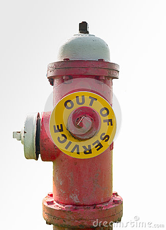 Free Fire Hydrant Out Of Service Royalty Free Stock Photos - 42805638