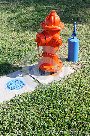 Fire Hydrant and outside water tap and grate