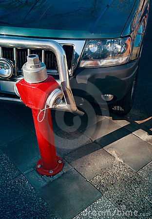 Fire hydrant parking