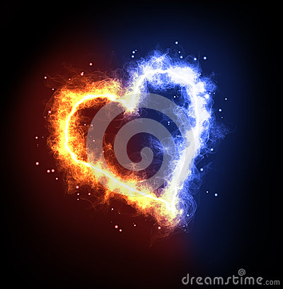 Free Fire Ice Heart Stock Photos - 50119443