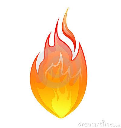 Fire icon - vector