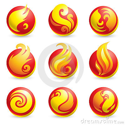 Free Fire Icons Royalty Free Stock Photography - 9137847