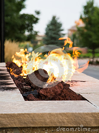 Free Fire In Outdoor Fire Pit Royalty Free Stock Photography - 45976207