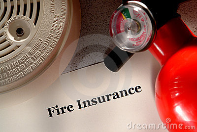 Fire Insurance Document and Safety Extinguisher