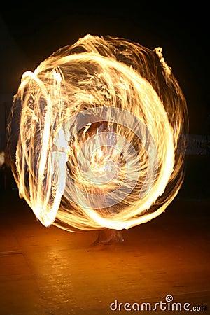 Free Fire Juggler Royalty Free Stock Image - 234076