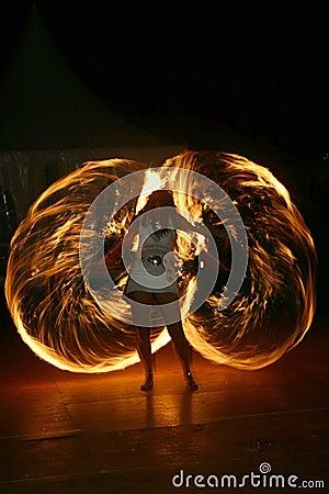 Free Fire Juggler Royalty Free Stock Photos - 234078