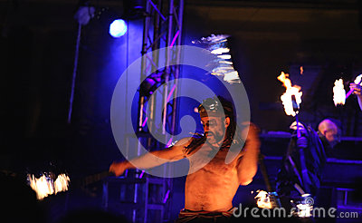 Fire juggler Editorial Image