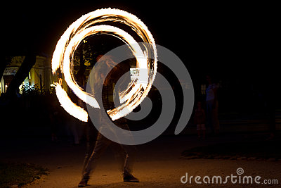 Fire jugglers Editorial Stock Image