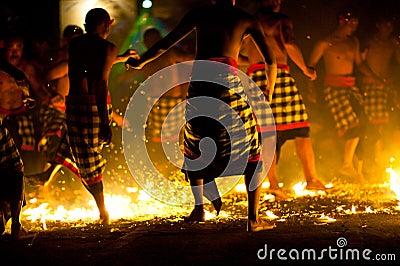 Fire Kecak Dance Editorial Photo