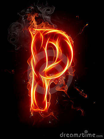 P Alphabet In Fire Fire Letter P Stock Image - Image: 7197691