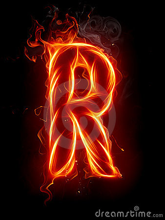 Fire Letter R Royalty Free Stock Photos Image 7197698