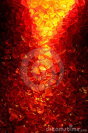 Fire Lit Red and Yellow Quartz Crystal Background