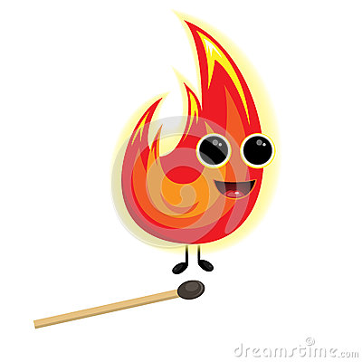 Fire little imp with match