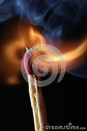 Fire - Match Burning
