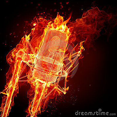 Fire microphone