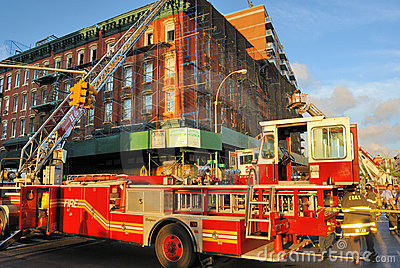 Fire in New York City Editorial Stock Image