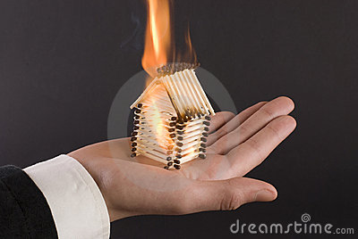 Fire on the palm