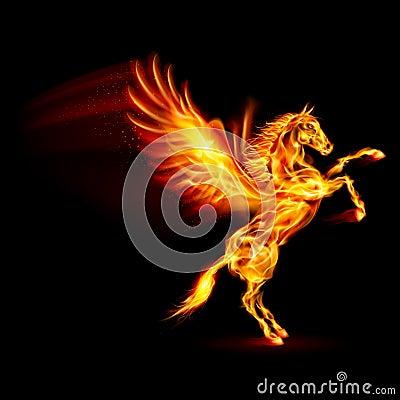 Fire Pegasus. Stock Im...