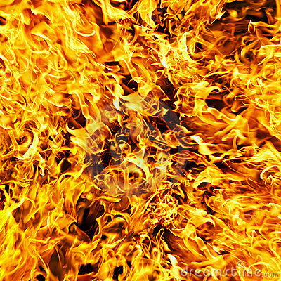 Fire photo on a black background