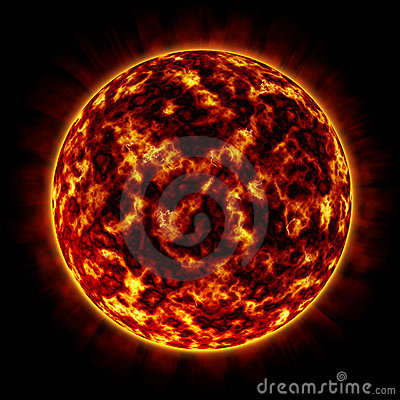 Free Fire Planet (orange) Stock Image - 486301