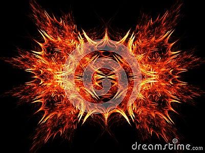 Fire rays blazing