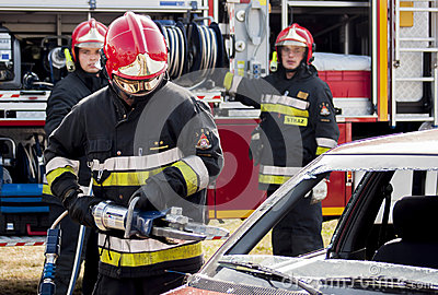 Fire and Rescue Emergency Units at car accident