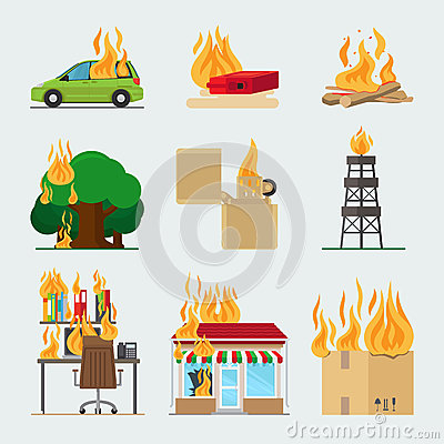 Free Fire Risk Icons Royalty Free Stock Photo - 79314965