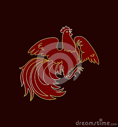 Fire Rooster 2017 Stock Illustration Image 82631373