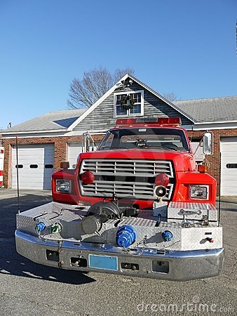 Fire safety: fire truck front