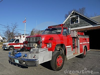 Fire safety: truck and ambulance