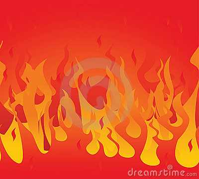 Fire seamless. Vector illustration