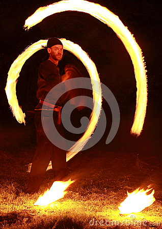 Fire show Editorial Image