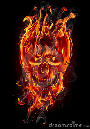 Free Fire Skull Royalty Free Stock Image - 19155606