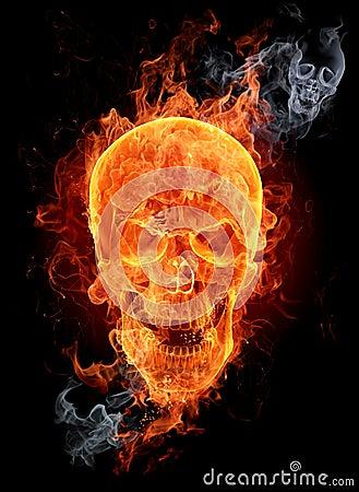 Free Fire Skull Royalty Free Stock Image - 7224246