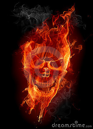 Free Fire Skull Royalty Free Stock Photography - 7771287