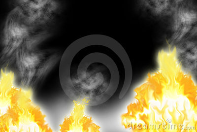Fire with a smoke