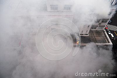 Fire and Smoke Editorial Stock Image