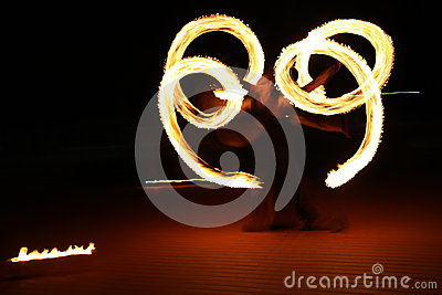 Fire in spiral