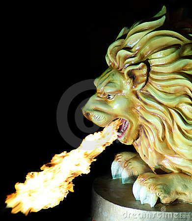 Fire Spitting Lion
