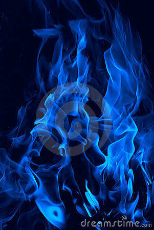 Fire stylized in dark blue colour